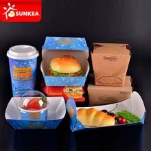 Custom brand disposable paper food packaging