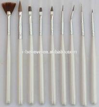 hot sell metal handle nail art brush for cheap nail art brush names