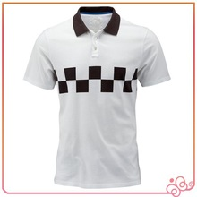 2015 High quality new design mens polo collar striped t shirt