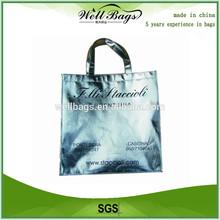 Silver Lamination Metallic Non woven Shopper Bags, non woven shopper bag, lamination Metallic bag