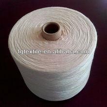 Super white recycled knitting yarn