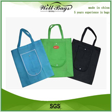 Promotional foldable nonwoven bag for shopping, folding shopping bag, non woven foldable bag