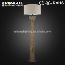 Clássico iluminação decorativa lâmpada de assoalho de madeira para o ou salão