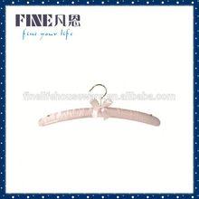 FSH5027 fabric hanger samples/colorful satin hangers/ display hanger