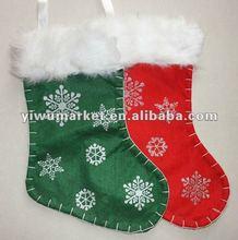 2012 New style non-woven handmade Christmas Socks