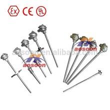 Pt100 RTD, K/T/N/E/R/S/B Type Sheathed Thermocouple / Sheathed Thermocouple temperature sensor