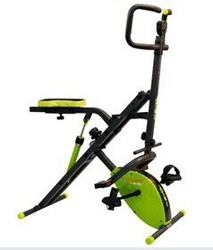 2015 Hot sale abdominal crunch with MAGNETIC bike/portable fitness equipment