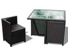Good Quality PE Rattan Restaurant Dinning Table and Chair