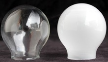 Clear/frosted dia 55mm glass globe, glass ball, glass lamp shade