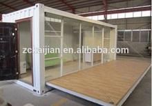 temporary living house, warehouse shelter, fiberglass polyurethane foam sandwich panel glass window container house