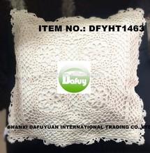 cotton crochet cushion cover