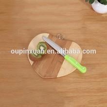Fun heart shaped chopping blocks,vegetable and fruit bamboo cutting board