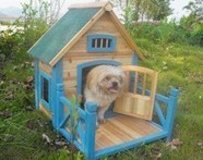 wooden dog cage