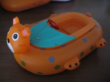 2015 new design cheap inflatable cat boat for kids ,PVC high quality
