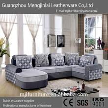 Latest home furniture modern fabric corner sofa corner, large corner sofa