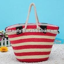2012 latest red wheat straw handbag