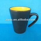 bulk packing ceramic double color mug in pantone color for pomotion