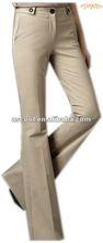 Wommen's New Fashion Khaki flare leg Low Rise Trousers