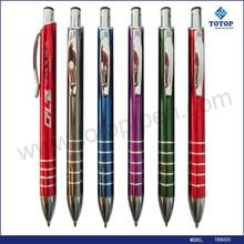 classic 5 rings glossy barrel thin metal pen