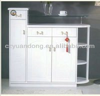 Multifunctional White Wooden Home Furniture shoe cabinet