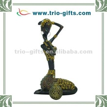 African lady resin figurine
