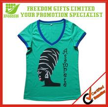 Cheap Price V-neck Printed T-shirts