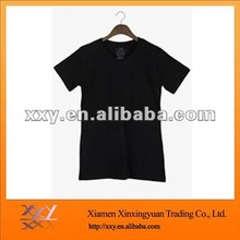 2014 Short Sleeve Fine Jersey V-neck Tshirt in Black Blank