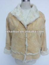 Ladies' rabbit fur and fox fur Coats