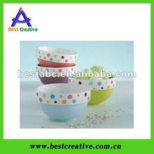 Circle dot Plastic ice cream bowls