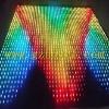 rental use led video curtain display/led animation curtain wall
