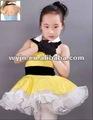 çocuk dans kostümleri, balo salonu dans elbise, dantel etek dans