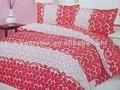 Impresso microfibra capas de edredão, 2014 nova poliéster barato roupa de cama, Capas de edredão branco vermelho