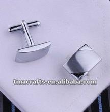 Engraved silver cufflinks