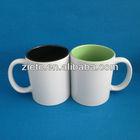 wholesale ceramic print logo inside mug for sale with customized logo