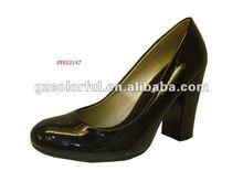 black shining patent pu sexy high heel shoes