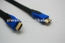 high quality nylon hdmi male to male