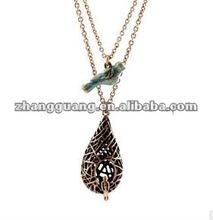 2015 new design love bird , bird cage pendant necklace
