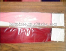 Pink remy hair weaving extensions/hair supply wholesale