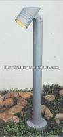 modern outdoor garden bollard pole light down