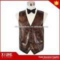 personalizado moda brown mens colete de couro