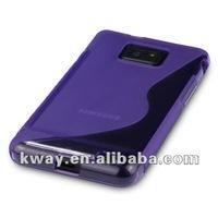 For Samsung Galaxy S2 II i9100 S Shape Anti-Slip TPU Skin Soft Case Cover KSL212