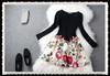 Boutique dress quality floral cotton print dresses for women 2014