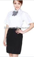 bar waitress slim black dress work clothing 2012
