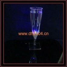 2012 pop hot led flashing champagne glass,plastic shot glass cup