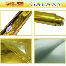 Popular chrome golden car wrap