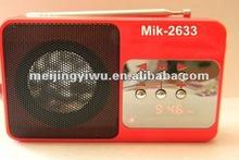 2012 hotsell High quality portable fm radio