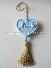 2012 New items scented ceramic heart ornament