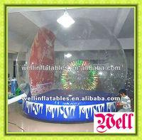 christmas snow globe/ Inflatable snow globe for holidays decoration
