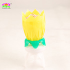 2014 Top Selling Rotating Intelligent Lotus Birthday Candle with music and fireworks Wholesaler