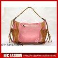 المرأة الجديدة 2012 شريطية-- حقيبة قماش طباعة، مصمم حقائب اليد الرخيصة، ct13319